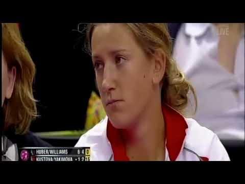 Fed Cup 2012 - Venus Williams/Huber vs. Kustova/Yakimova