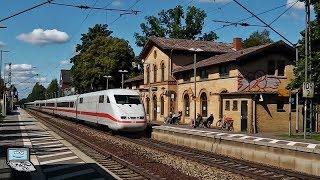 Bad Bevensen mit langen+schnellen ICE 1 Zügen, metronom, IC, Güterzüge