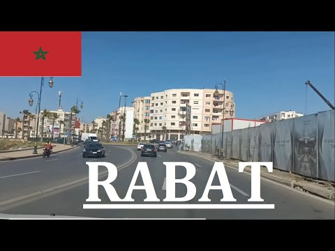 Driving Around Rabat Morocco, Maroc. | Listening to the Radio | promenade dans les rues de Rabat.