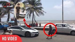 How Shahrukh Saved A Girl Must Watch | Driving BMW | Bandra Bandstand