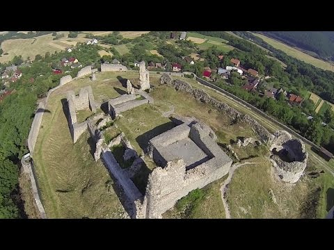 Paramotor Czech Rep. ☼ Flight to Slovakia, Branc castle ☼ Baterry gone ;-(