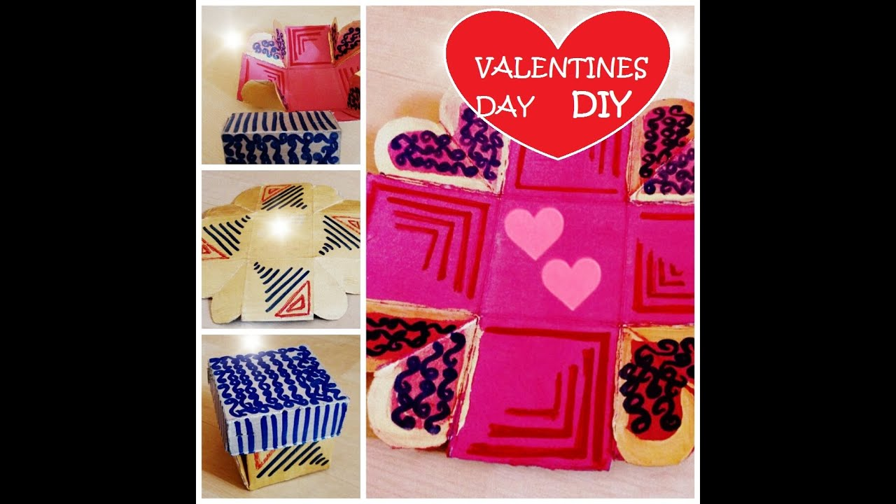 DIY - Valentines Day Gift - Exploding love box-Easy and