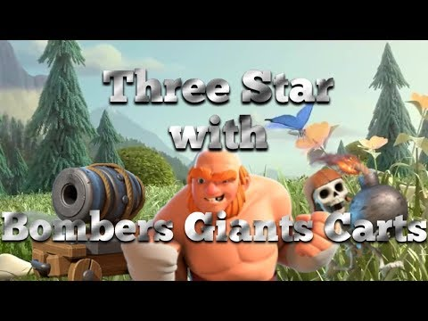 Maxed Builder Hall 8 three starred with Bombers, Giants and Cannon Carts!!!- Clash of Clans