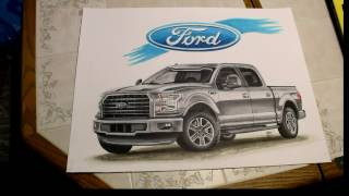 Time Lapse Drawing - 2016 Ford F150