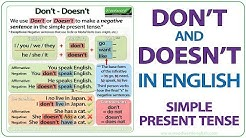 Don't vs. Doesn't in English - Simple Present Tense