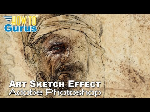 Photoshop Sketch : How to do a Pencil Sketch Art Effect : CC 2018 CS6 CS5 Tutorial