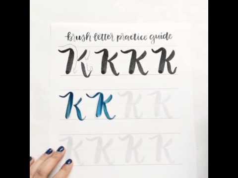 Brush Lettering Uppercase K