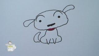 How to draw Shiro from Crayon Shin Chan シロ