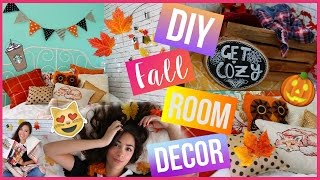Easy & Cute Diy Fall Room Decor! ♡ Make Your Room Cozy For Fall!