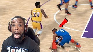 Breaking Russell Westbrook's Ankles In First Playoff Game! Lakers vs Thunder NBA 2K19 Ep 55