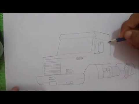 Desenhando Caminhao Scania 113h Youtube