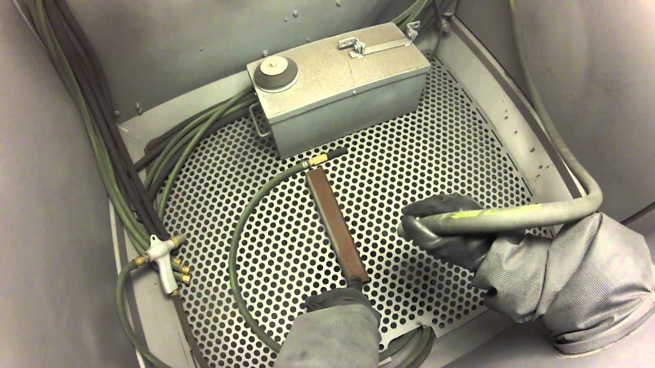 Clemco Industries Blast Cabinets Clemco Pressure Blast Demonstration Youtube