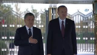 Cumhurbaşkanı Erdoğan, Özbek Mevkidaşını Resmi Tören İle Karşıladı