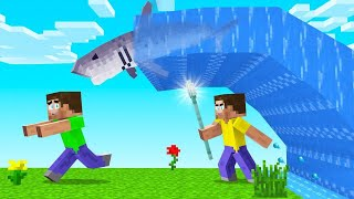 Learning To BEND WATER In MINECRAFT! (summoned a shark)
