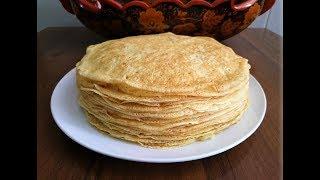 Домашние Блины (Блинчики)  на молоке ТОНКИЕ  // Pancakes in a hurry