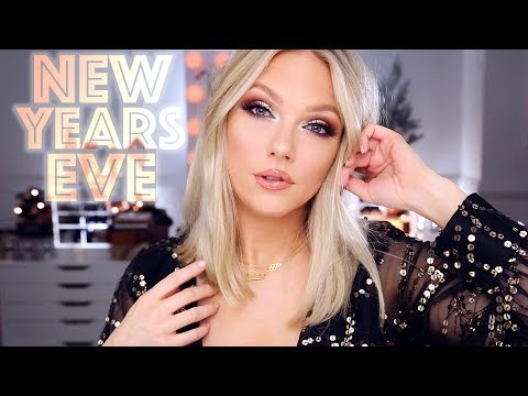 NEW YEARS EVE MAKEUP | Silver + Gold thumbnail