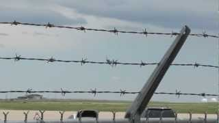 F-16 fly bys and Air force One arriving May 23, 2012
