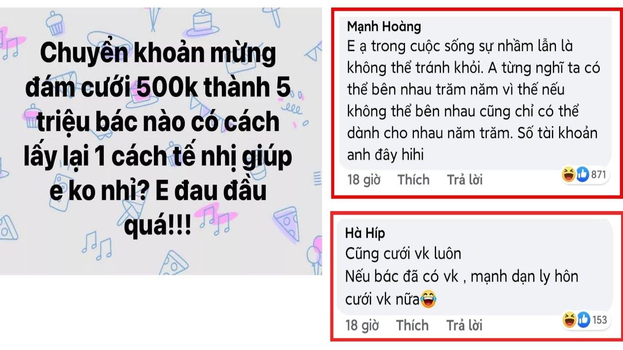 Top Comments, bình luận bá đạo trên FB - Làm sao lấy lạo tiền đây mn😆