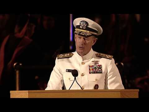 Navy Seal commander gives some of the best advice to Grads at commencement