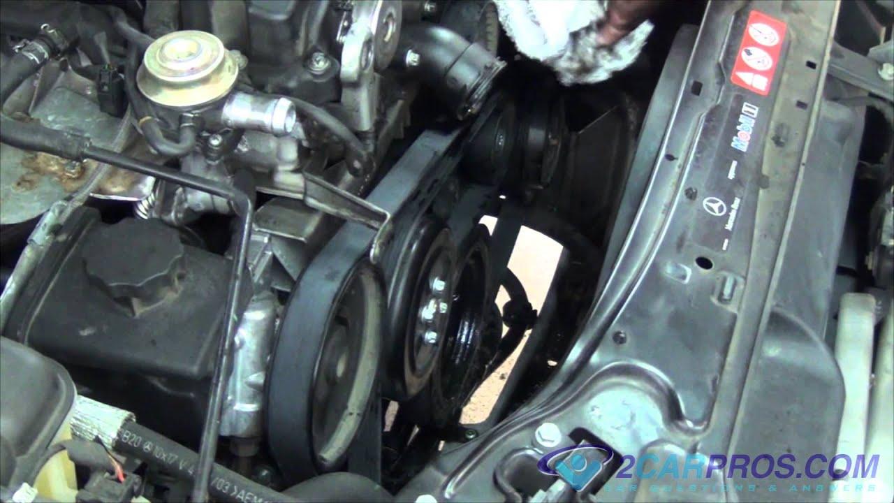 Serpentine Belt Replacement Mercedes Benz C230 Kompressor