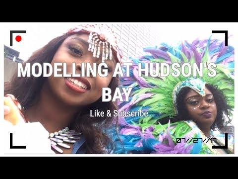 Quick vlog// We modeled at Hudson Bay