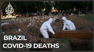 Brazil's coronavirus death toll now the world's fourth-highest