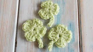 Hi everyone! This week I thought I'd share in a little pre-St Patrick's Day fun and show you how to crochet a 4 leaf lucky shamrock or a 3 leaf clover.