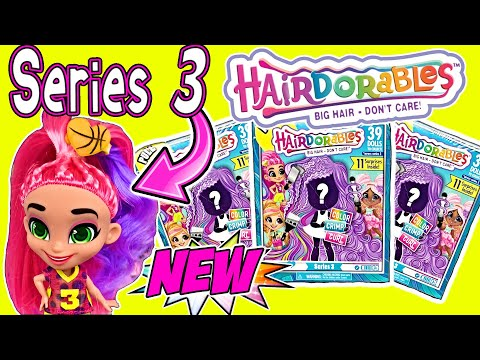 Hairdorables Series 3 Doll Video! NEW SERIES 3 HAIRDORABLES Color, Crimp + Curl Hairdorable Dolls!