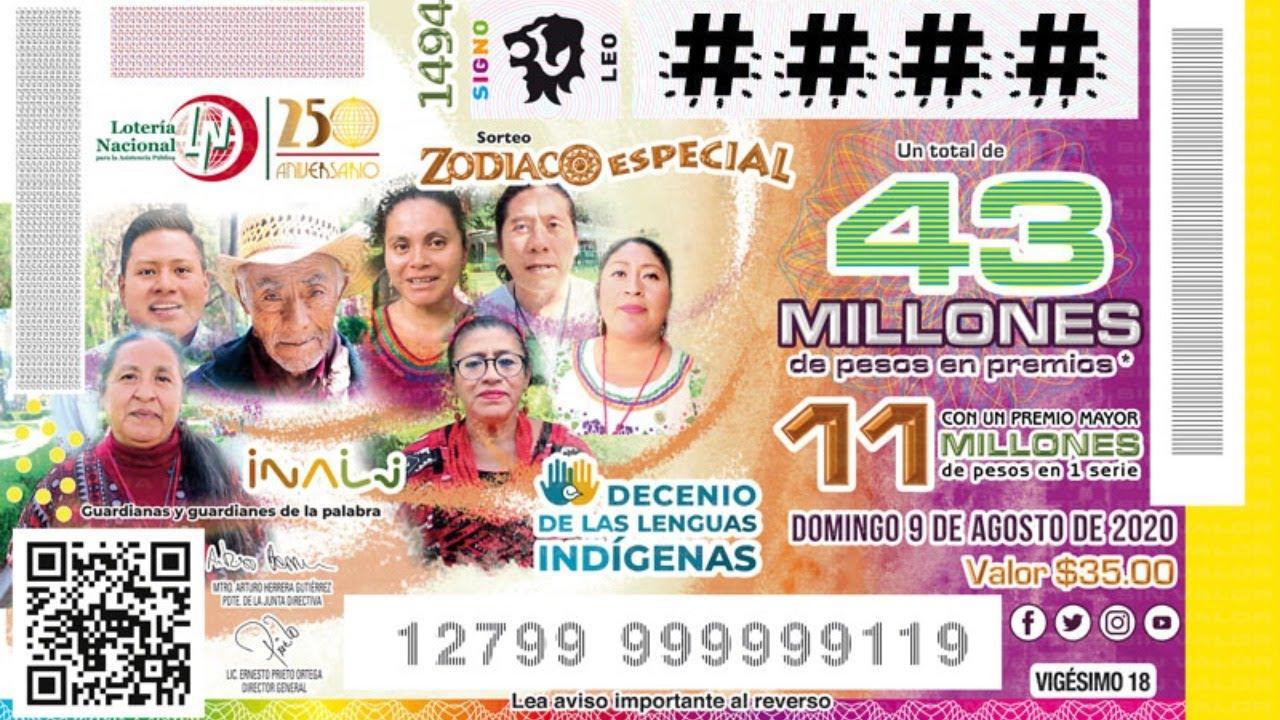 Sorteo Zodiaco Especial  No.1494 | Conmemorando el Día Internacional de los Pueblos Indígenas