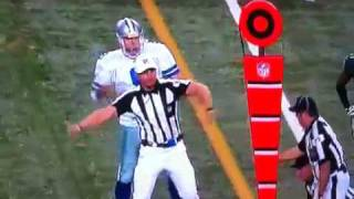 tony romo mimics the ref