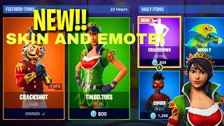 NEW TINSELTOES SKIN AND CRACKDOWN EMOTE IN FORTNITE