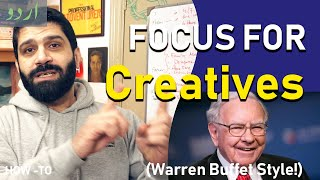 3 Steps to Finding Focus - the Warren Buffet method (Urdu/Hindi)