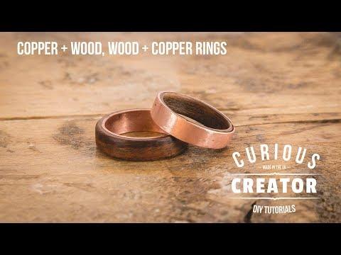 #33 Copper + Wood & Wood + Copper Rings