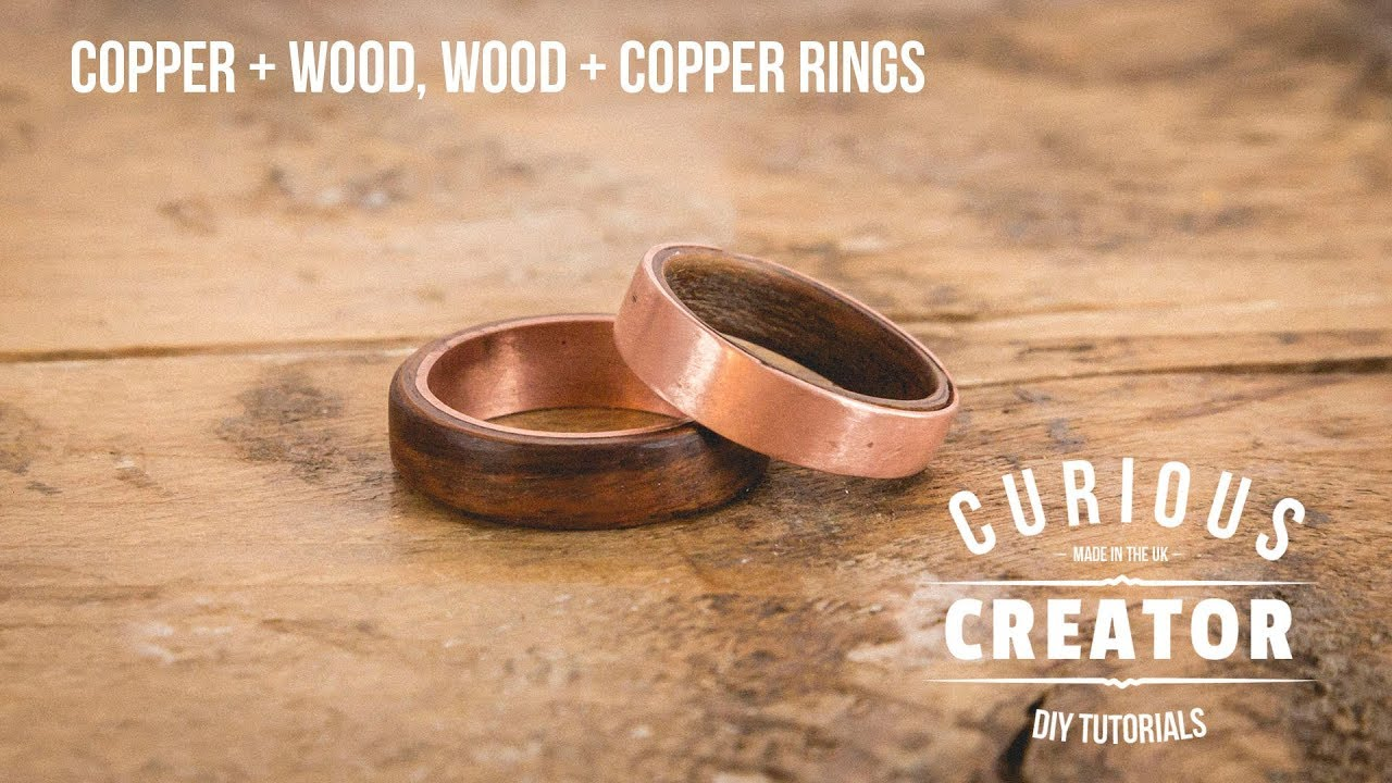 Copper Wood Wood Copper Rings Curious Creator