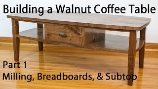 Building a Walnut Coffee Table - Breadboard and Subtop Joinery (Part 1)