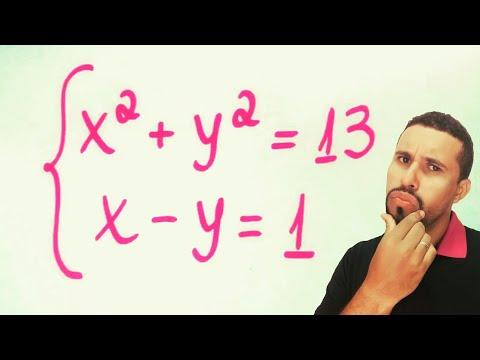 Sistema de equações do 2° grau