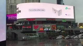 Pub TP-Link Google Home CES 2018 à Las Vegas