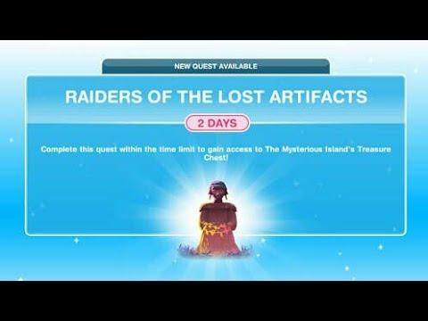 Cara Menyelesaikan Raiders Of The Lost Artifacts Quest di The Sims FreePlay [Bahasa Indonesia]