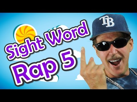 Sight Word Rap 5 | Sight Words | High Frequency Words | Jump Out Words | Jack Hartmann