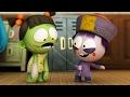 Dibujos animados divertidos | Spookiz Temporada 1- Wiggle Wiggle | Dibujos animados para niños