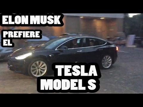 Tormenta de tweets: Elon Musk prefiere el Model S al Model 3