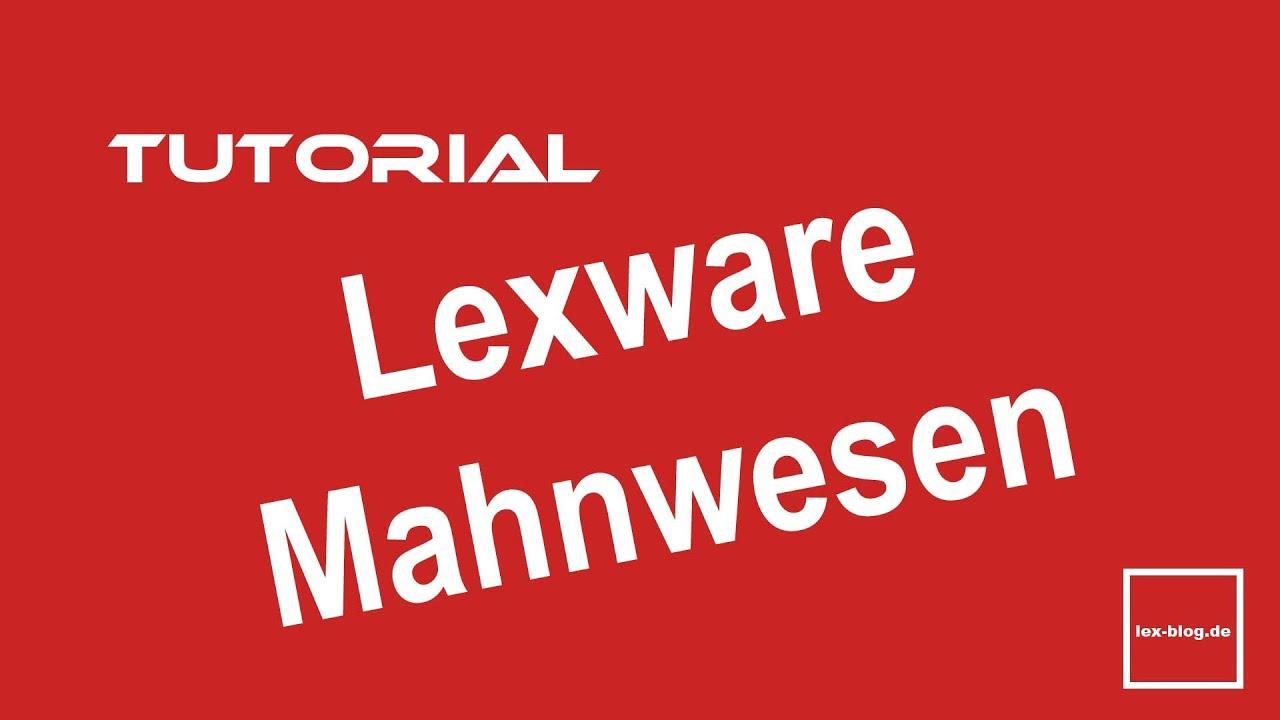 Lexware Mahnwesen Tutorial Youtube
