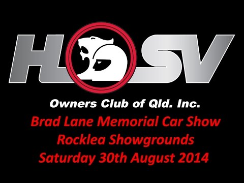 Brad Lane Memorial Car Show - Rocklea Showgrounds - Saturday 30th August 2014