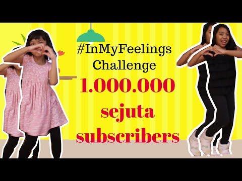 SATU JUTA SUBSCRIBER ♥IN MY FEELINGS CHALLENGE KIDS EDITION