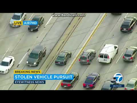Los Angeles Police Chase 04-12-2018 - Stolen Car
