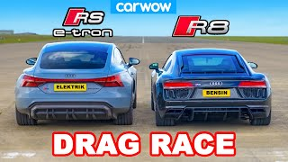 Audi R8 vs RS e-tron GT: DRAG RACE *Inilah Audi tercepat*