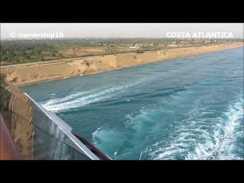 Costa Atlantica - Maiden transit in Suez Canal