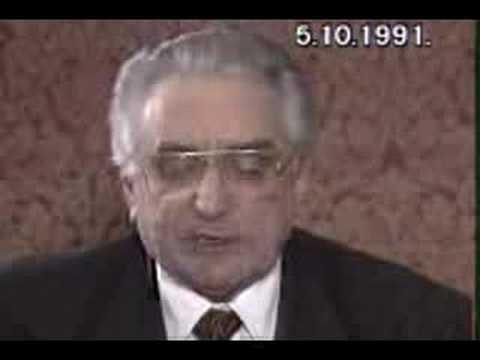 Dr. Franjo Tuđman- poziv na obranu domovine