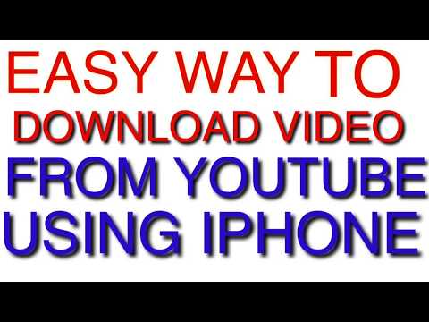 2019 EASY WAY TO DOWNLOAD VIDEO FROM YOUTUBE USING IPHONE FOR FREE !!!