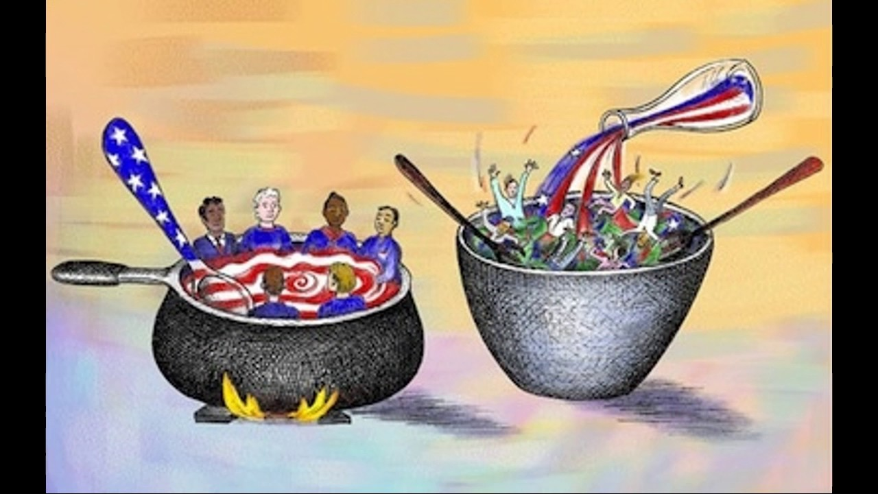 the melting pot myth essay Similarly, when a careful arrangement of those melting-pot notions–puritanism,  realism, optimism, and so on–which we have been told are the keys to the.